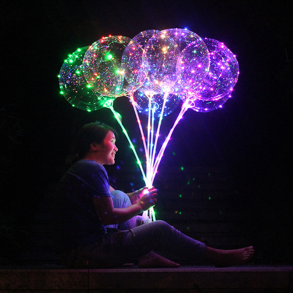 발광 투명 헬륨 보보 버블 풍선 크리스마스 결혼식 생일 파티 장식 LED 문자열 라이트 업 풍선