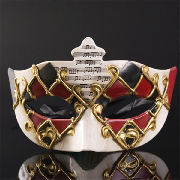 Máscara de media cara para disfraces de Halloween Máscara de fiesta de disfraces para hombres Máscaras de fiesta de baile delicadas