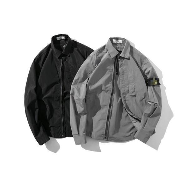 Street Retro klassische Designer Jacke Herren Jacken Frühling Herbst Top Metall Nylon Material weich und komfortabel ykk Reißverschluss schließen Luxus-Hemden