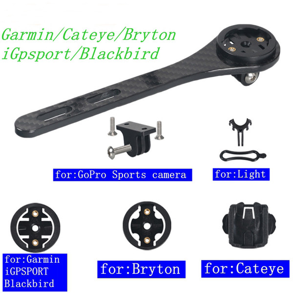Support de support de support de support de guidon de vélo pour VTT Full Carbon 3K Route VTT pour Garmin Cateye Bryton iGpsport Blackbird