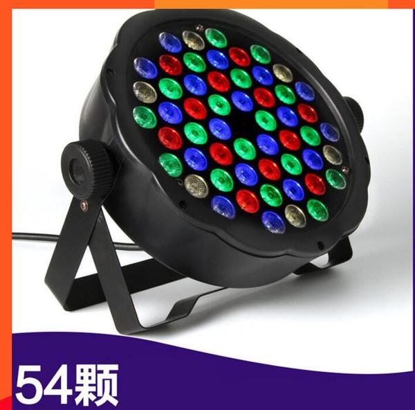 4 шт. / Лот DMX Control 54 RGBW LED Par Light Для Диско-Партии DJ Бар Лампы Музыкальное Шоу Строб-Проектор Сценический Эффект Света