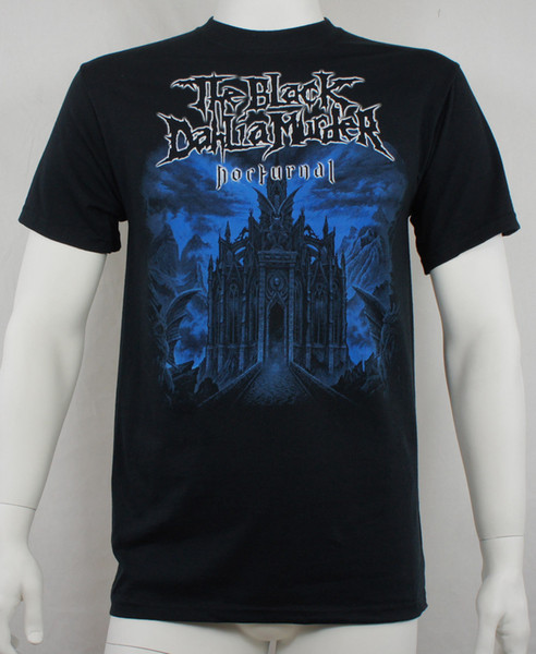 Authentic THE BLACK DAHLIA MURDER Nocturnal Cover T-Shirt Tees Men Hot Cheap Short Sleeve Male Men's Clothing T-Shirts