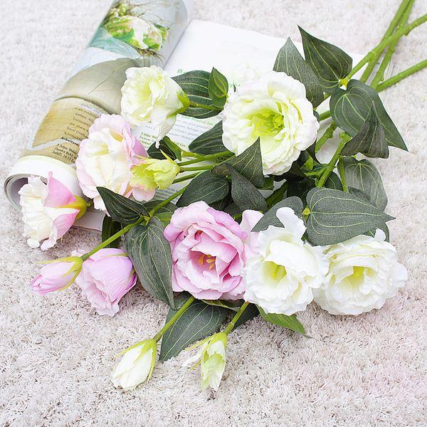 Ev ürünleri düğün ev dekor dekoratif çiçekler yılbaşı çelenk yapay çiçekler için 1 paket Nordic Nergis vazolar