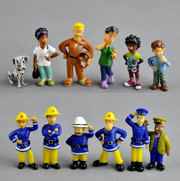12pcs / Set animée Pompier Sam l'action Figurine en PVC Figures poupée mignon de jouets pour la décoration ou collection