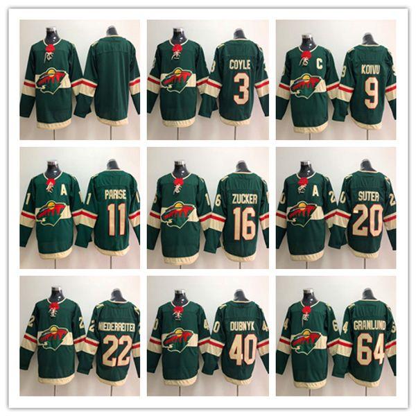 Maillots de hockey MINNESOTA WILD POUR HOMMES 11 Zach Parise 9 Mikko Koivu 64 Mikael Granlund 20 Ryan Suter