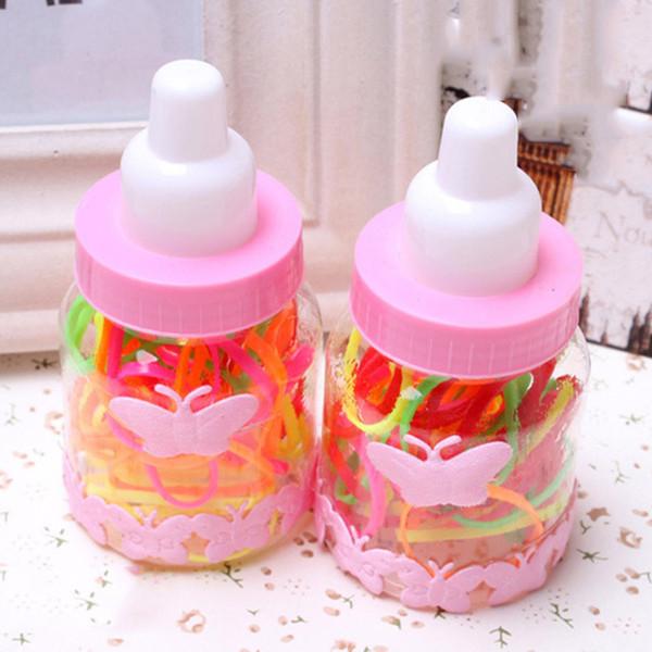 2ST / set Heißer Verkauf Haar Gummibänder für Kind Niedlich Box Bunte Haarband für Mädchen hoch elastische Haar-Bänder für Kinder Kopfbedeckung