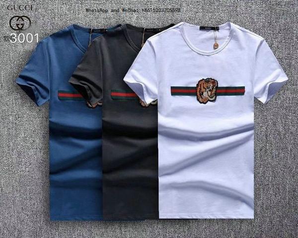 Мода Досуг Молодежи Мужчин Футболки С Коротким Рукавом для Мужчин Прямая мужская Одежда Trend Печати Футболки футболки брендов