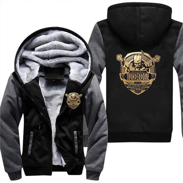 Casual Brasão de Thunderdome ID T hardcore techno e Gabber3d Hoodie Men Jacket além de veludo camisola Hot Tema Equipe Hoodies 5XL