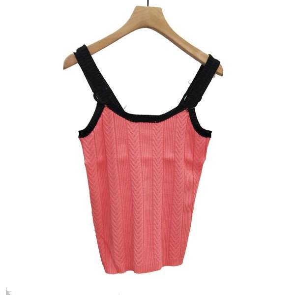 Designer fashion women's fruit color knit vest 2019 summer wild sexy Slim factory spot real shot high-end women's clothing
