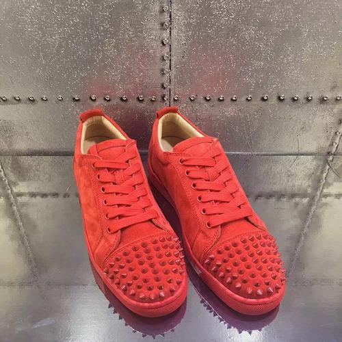 Printemps des nouveaux hommes occasionnels Chaussures femmes appartements en cuir noir fond rouge chaussures luxe pointes chaussures de sport mode taille chaussures de loisirs 35-46 c20 t01
