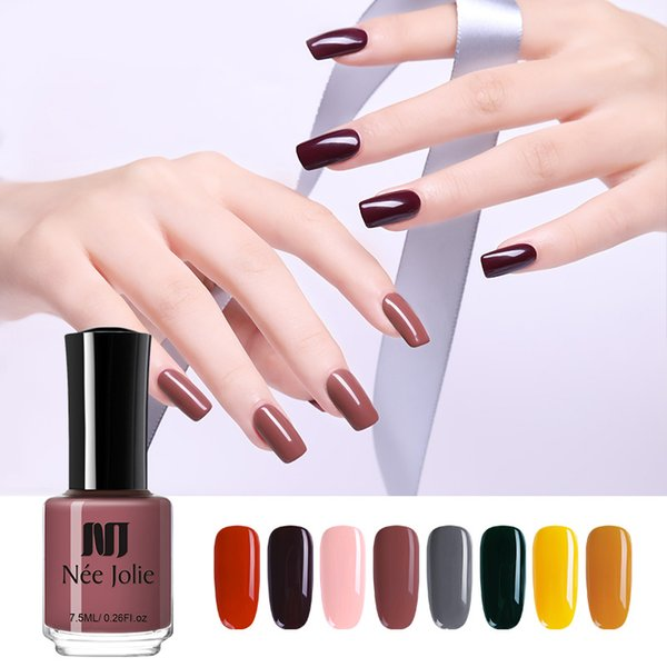 NEE JOLIE Nail Polish Red Yellow Pink Color Series Nail Polish Fast Dry Varnish Long Lasting Art DIY Design Varnish