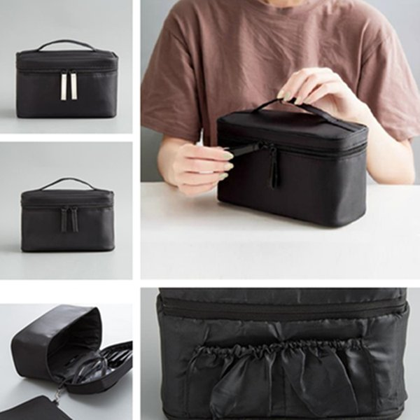 New fashion large-capacity portable makeup brush Cosmetic Bags travel wash handbag high quality beautiful and simple Storage Bags T7D5028