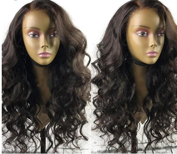 Best Fashion Loose Body Wave Full Lace Wig 10-26 Inch In Stock Peruvian Virgin Hair Glueless Lace Front Human Hair Wigs