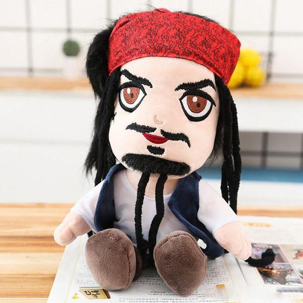 "Pirates Plush Toys 25cm 10"" Soft Stuffed Animals Toy Kids Cartoon Movie Bird Skeleton Captain Dolls Toys for Children"