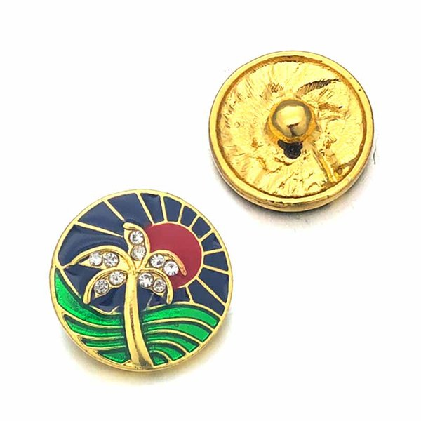 Wholesale w114 Flower 3D 18mm 25mm 30mm Metal Snap Button For Bracelet Necklace Interchangeable Jewelry Women Accessorie Findings