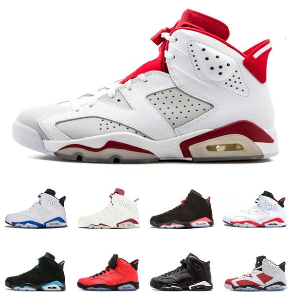 Alternatif 6s erkek ayakkabı tasarımcısı basketbol ayakkabıları Kızılötesi Kara Kedi Kızgın boğa Spor mavi UNC kaliteli erkek spor eğitmenleri boyutu 40-47