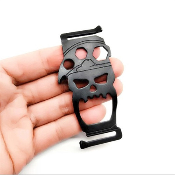 Outdoor EDCTools Multi Function Seek Survival Instrument Skull Hexagon Wrench Rope Cutter Knapsack Clip Bottle Opener Camp 5ztf1
