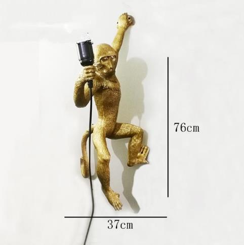 oro lampada da parete scimmia