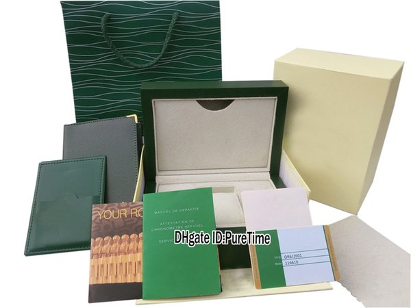 Caixa De Couro Verde Abotoaduras
