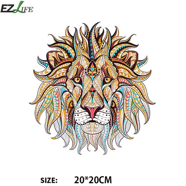 Animal for Clothes Fashion Different Size Sewing Accessory Lion Tiger House Dragon Iron On Patches Applique