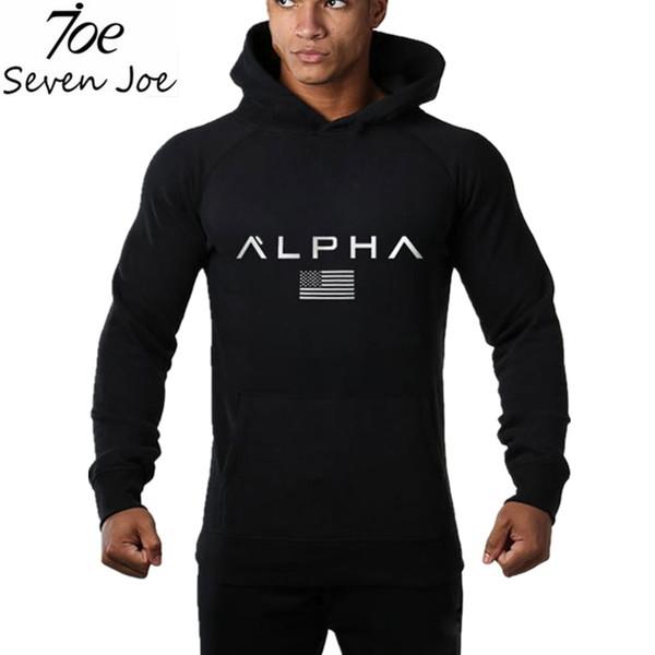 Seven Joe Men gyms hoodies gyms Fitness bodybuilding Sweatshirt Crossfit pullover sportswear male workout Hooded Jacket clothing