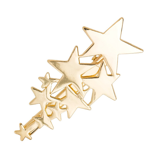 2Pcs New Fashion Alloy Stars Hair Jewelry Women Wedding Bridal Hair Clips Silver Gold Hairpins Hairgrips Girls Accessories