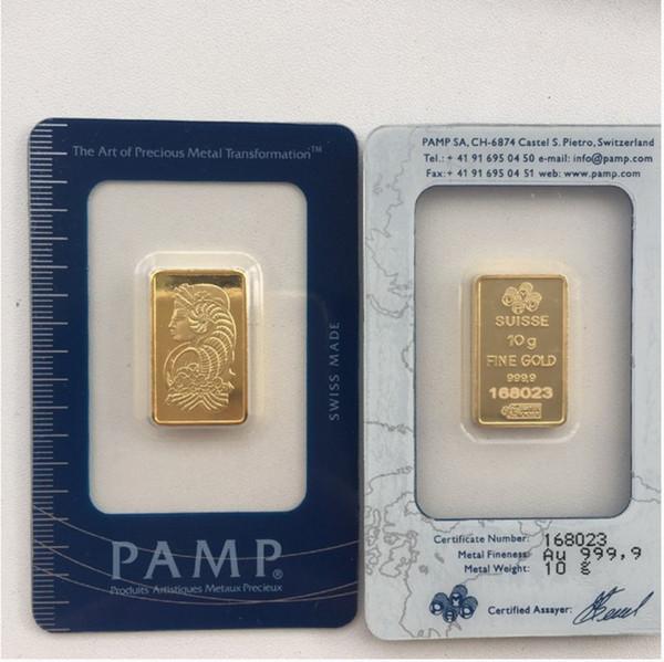 10 Gram PAMP II Gold Bar
