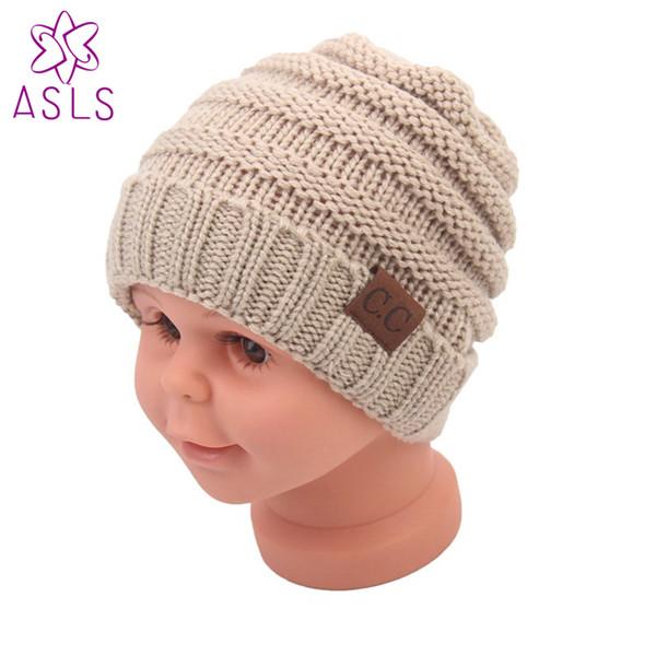 Winter heißer Verkauf europäischen und amerikanischen CC Kennzeichnung Kinder Wolle Strickwaren Baby Hecke warme Mütze