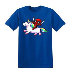 T unisex do t-shirt do unicórnio de Deadpool Camiseta