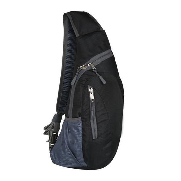 2019 Moda Hombre Deporte hombro del mensajero del paquete del pecho de nylon Cruz Body Bag al aire libre Senderismo bolso de la honda de alta calidad a prueba de agua