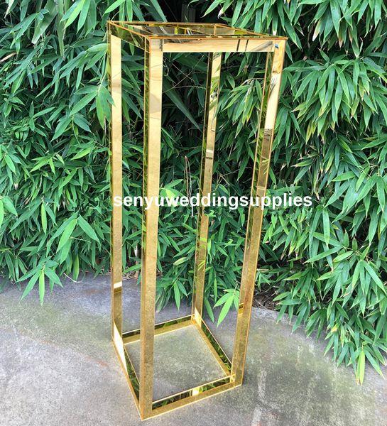 Nouveau style de mariage colonne en métal Vase d'or Jardinière pour mariage Décoration senyu0430 Centerpiece
