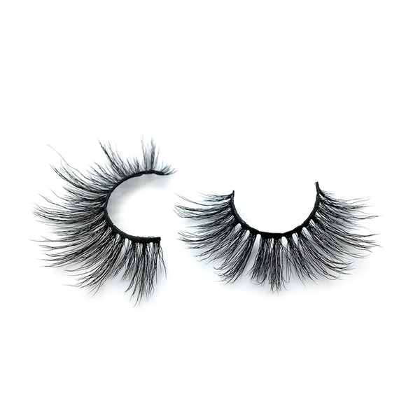 A23 The newest A pair of mink false eyelashes cross eyelashes thick hot sales false eyelash ripple silk eyelash