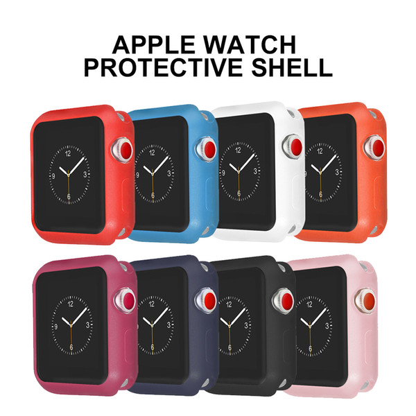 XIYUZHIYI Elegante y cómoda funda de silicona suave anti caídas para la serie Apple 1/2/3 cubierta protectora de goma 44mm42mm40mm38mm