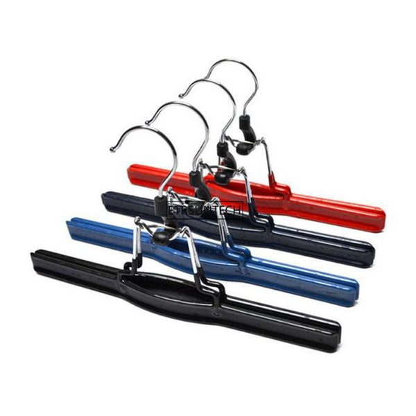 wholesale hot sale Colorful PVC Coated Metal Skirt Hanger,Pants Clamp , Hair Extension Hanger free shipping