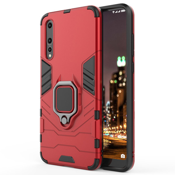 360 Rotating Kickstand Car Magnetic Mount Cover Case Black Panther For Huawei P30 Pro P20 Lite Mate 20 X Y7 Y9 Honor 8X Max 8S V20 20i Play