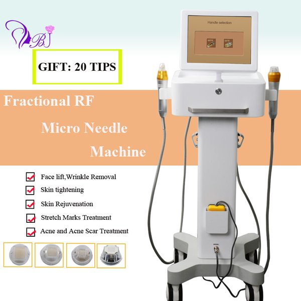 Two handles fractional microneedle rf equipment Micro needle Skin Tightening Anti Wrinkle Radio Frequency thermage machine