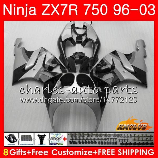 Bodys per Kawasaki ZX 7 R fabbrica grigio ZX 750 ZX750 ZX 7R ZX750 28NO.143 ZX7R ZX7R 1996 1997 1998 1999 2000 2001 2002 2003 carenatura