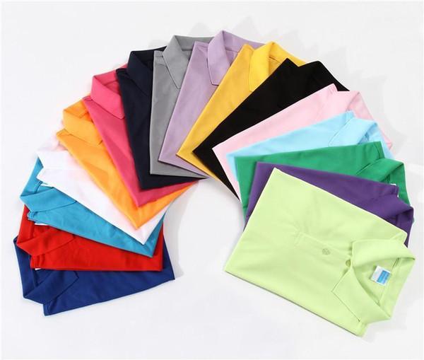 Custom Printed Men Shirt Summer Soild Homme Shirt Short Sleeves Printing Culture Logo Top 11 Color S-3XL Size