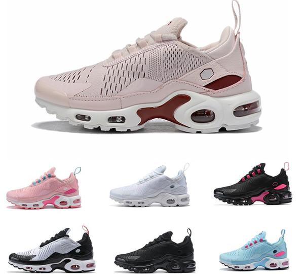 Großhandel 2019 Billig Plus Nike Air Max 270 TN Männer Frauen Laufschuhe Flair Triple Schwarz Weiß Blau Sportschuhe Kissen 7C Zapatillas Sneakers