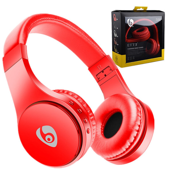 Bluetooth Headset S55 Wireless Headphones Stereo Music Headband Foldable Earphone with Mic Support TF Card For iPhone Android Phone MP3