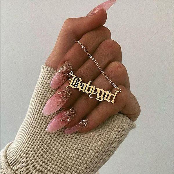 15pcs европейских и американских моды Креативный Babygirl Английский алфавит дня рождения Валентина кулон ожерелье подарок для Подруги
