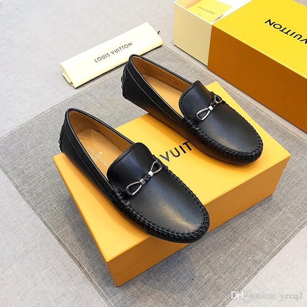 18ss 2020 Designers brand Italian Monk Strap Slip on Loafer Plain Toe Real Leather Oxford Formal Business Casual Comfortable Dress Shoes