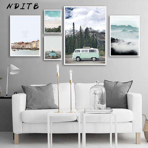 Acheter Style Scandinave Voyage Paysage Toile Mur Art Affiche Nordique Imprimer Peinture Nature Décoration Photos Moderne Décor à La Maison De 3357