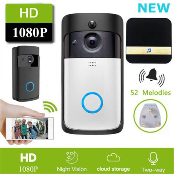 Smart WiFi Door Bell Wireless IR Video Camera Intercom Record Security Home Bell