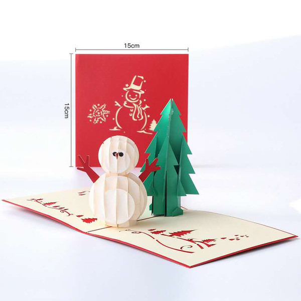Christmas Cards To Print.2018 Greeting Cards Gifts Winter Holiday Creative Christmas Card Stereo Greeting Card 3d Hollow Custom Gift Postcard Birthday Blessing Card Sending