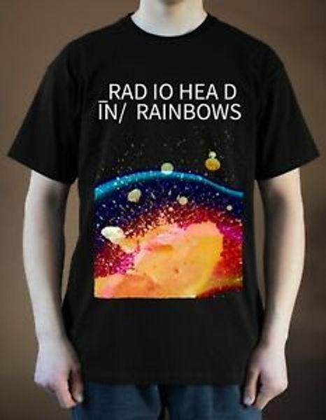 New RADIOFunny In Rainbows ver 2 Yorke RoNew Альбомная футболка BlaNew S 5XL