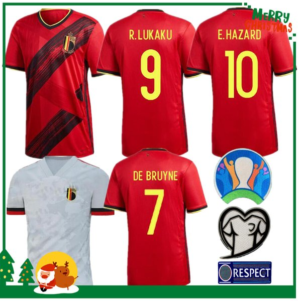 2019 2020 Belgium home LUKAKU HAZARD KOMPANY DE BRUYNE MERTENS Soccer Jersey 19 20 Adult man and kids kit sports football shirt