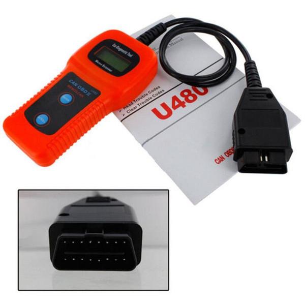 Araba-Bakım U480 OBD2 OBDII OBD-II MEMO Tarama MEMOSCAN LCD Araba OTO Kamyon Teşhis Tarayıcı Arıza Kodu Okuyucu Tarama Aracı hızlı sevkiyat
