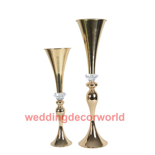 Neue stil schönes design dekoration sockel gold mental hochzeit blume stand mittelstücke für verkauf decor715