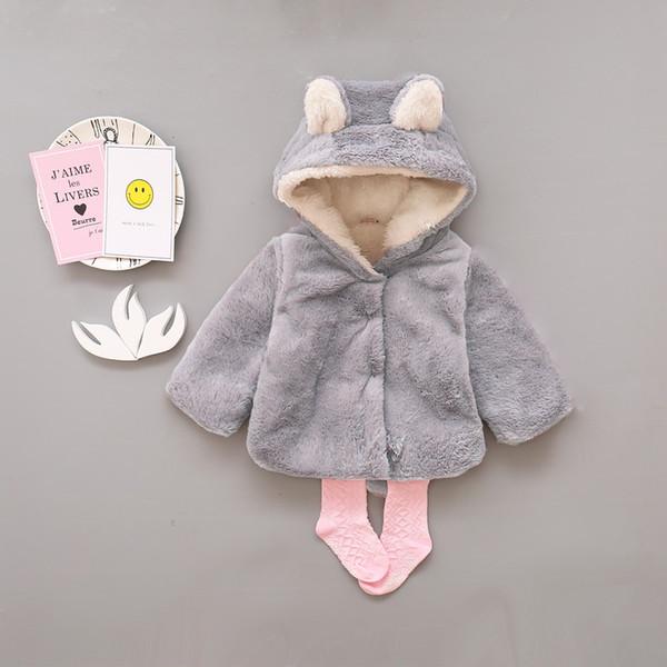 Baby Mädchen Mantel Winter Warm Bär Stil Mantel Mantel Jacke Dicke Warme Kleidung Baby Mädchen Nette Mit Kapuze Mäntel